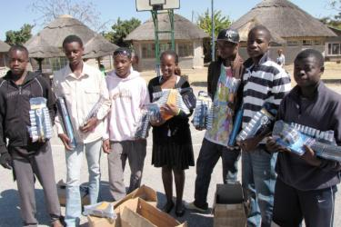A group of youth in Zimbabwe