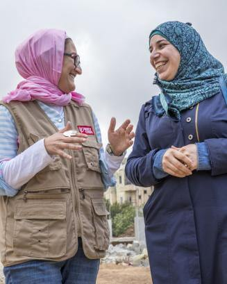 two woman in Lebanon having a conversation